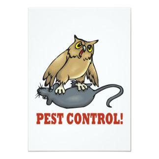 """Control de parásito invitación 5"""" x 7"""""""