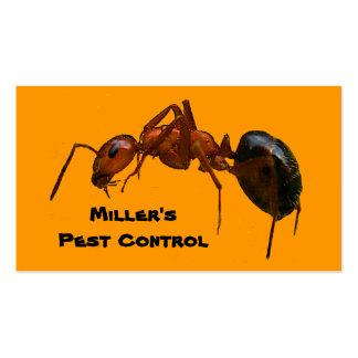 Control de parásito plantillas de tarjetas de visita