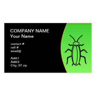 control de parásito plantilla de tarjeta de negocio
