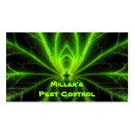 Control de parásito tarjetas de visita