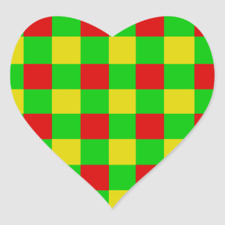 Control de Rasta Pegatina En Forma De Corazón
