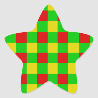 Control de Rasta Pegatina En Forma De Estrella