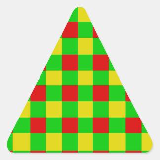 Control de Rasta Pegatina Triangular