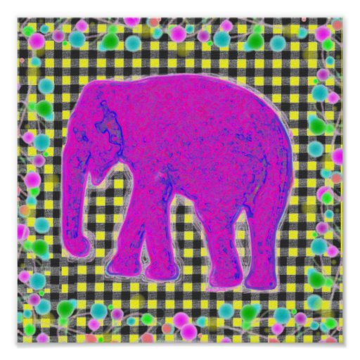 Control del amarillo del elefante poster