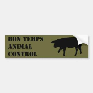 Control del animal de los Temps del Bon Pegatina Para Auto