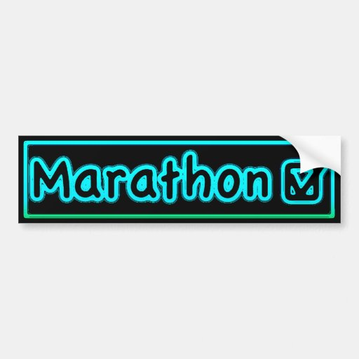 control del maratón etiqueta de parachoque