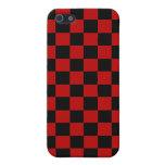 Control del rojo y del negro iPhone 5 fundas