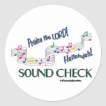 Control del sonido de las notas de C Pegatinas Redondas