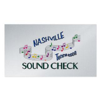 Control del sonido de Nashville Tarjetas De Visita