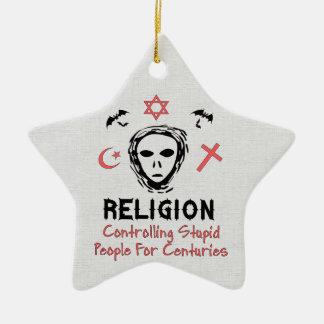 Control estúpido de la gente adorno de cerámica en forma de estrella