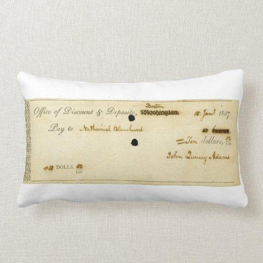 Control firmado ORIGINAL de John Quincy Adams Almohada