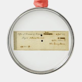 Control firmado ORIGINAL de John Quincy Adams Ornamento Para Arbol De Navidad