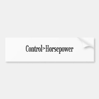 Control Horsepower Bumper Sticker