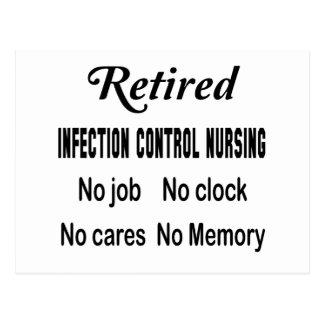 Control jubilado de la infección que no cuida postales
