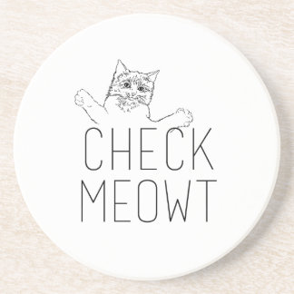 CONTROL MEOWT - Humor del gato Posavasos Diseño