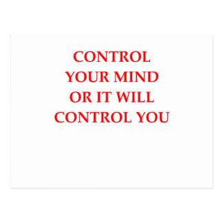 CONTROL POSTCARD