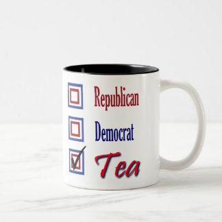 Control republicano uno de la fiesta del té de taza de dos tonos