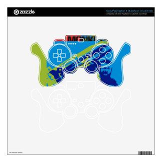 Control Retro-Getcho de Mi$ Playstation Mando PS3 Calcomanía
