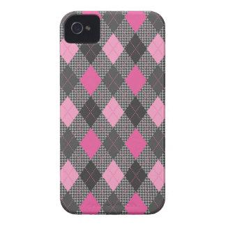 Control rosado de moda retro de la raspa de arenqu iPhone 4 protectores