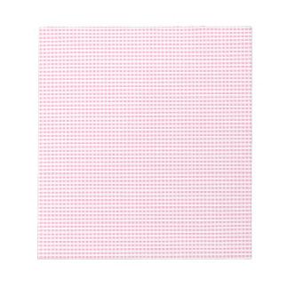 Control rosado y blanco de la guinga blocs de notas