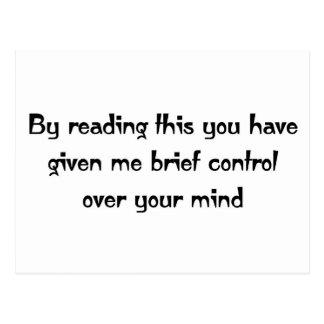 Control sobre su mente postal