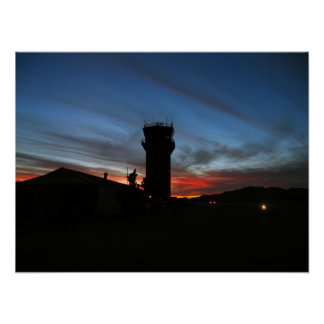 Control Tower Sunrise Poster