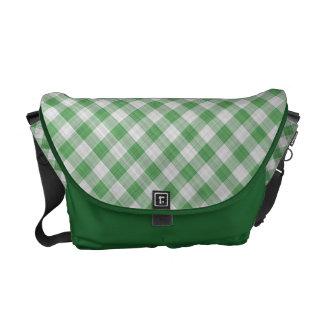 Control verde de la guinga - modelo diagonal bolsas messenger