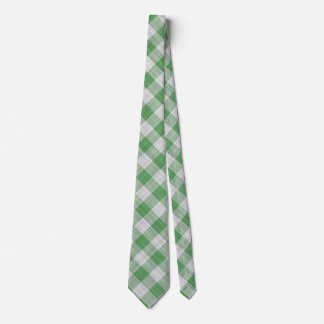 Control verde de la guinga - modelo diagonal corbatas personalizadas