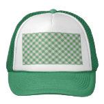 Control verde de la guinga - modelo diagonal gorras de camionero