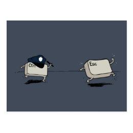 Control vs Escape Postcard