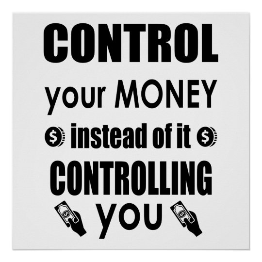Control Your Money Dave Ramsey Quote Poster Zazzlecom