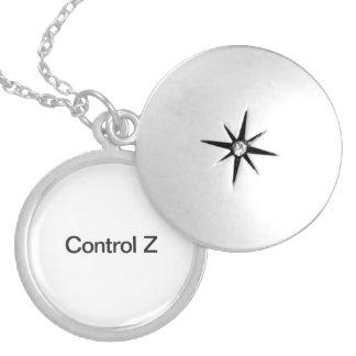 control z.ai round locket necklace