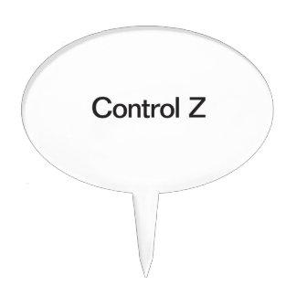 control z cake topper