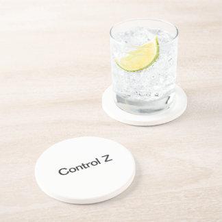 control z drink coaster