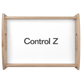 control z serving platter
