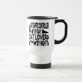 Controlador aéreo del amante del gato taza de café