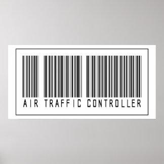 Controlador aéreo del código de barras poster