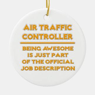 Controlador aéreo. Descripción de las funciones Adorno Navideño Redondo De Cerámica