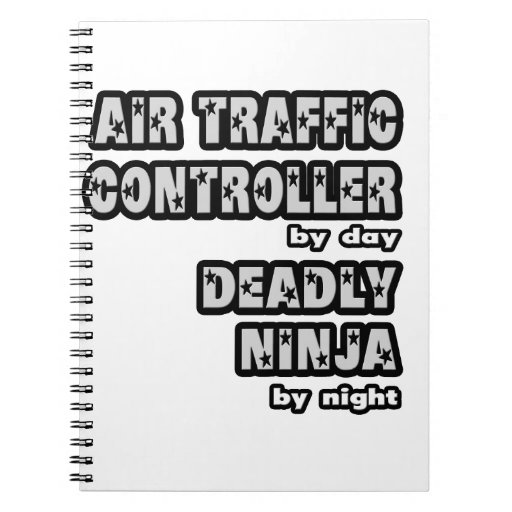 Controlador aéreo. Ninja mortal Libretas