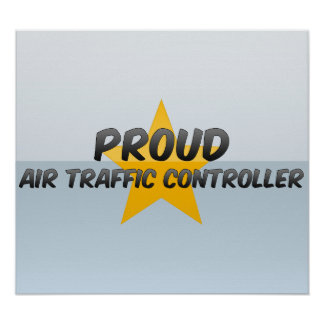 Controlador aéreo orgulloso impresiones