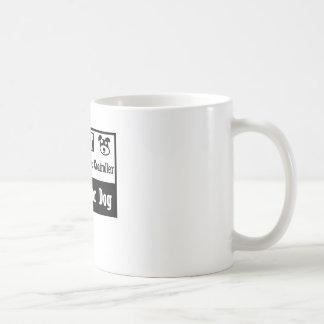 Controlador aéreo perdido del perro taza de café