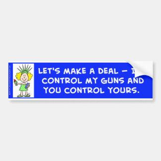 Controlaré mis armas y usted controla el suyo libb pegatina para auto