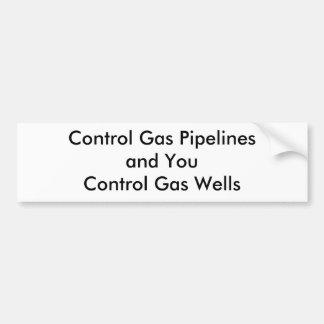 Controle los gaseoductos y le control…. pegatina para auto