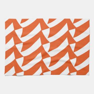 Controles anaranjados toallas de cocina