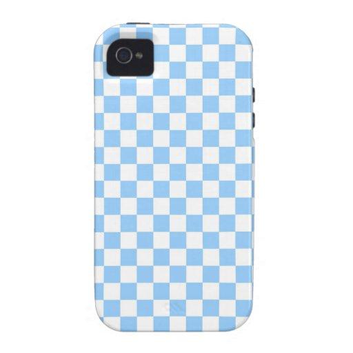 Controles azules y del blanco en colores pastel vibe iPhone 4 carcasas