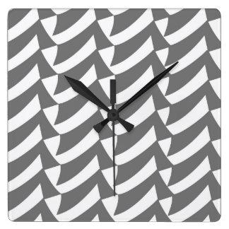 Controles del gris y del blanco reloj cuadrado