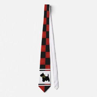 Controles del navidad con el modelo del perro del corbatas personalizadas