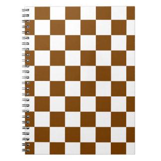 Controles marrones libro de apuntes con espiral