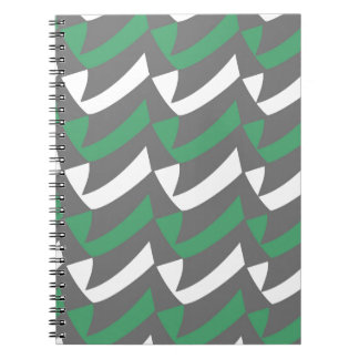 Controles verdes y del blanco libretas espirales