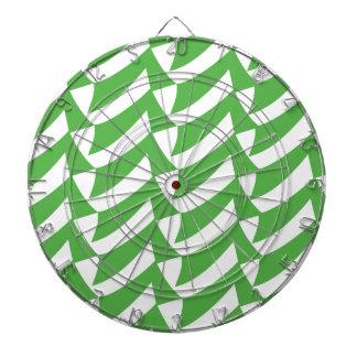 Controles verdes y del blanco tablero dardos